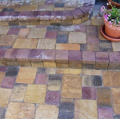 Pavers-Patio with Steps