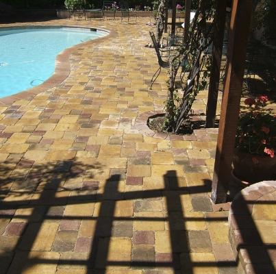 Interlock Pavers – Pool Deck