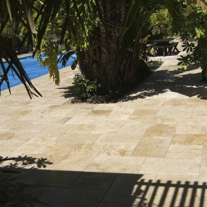 Stone Pool Patio