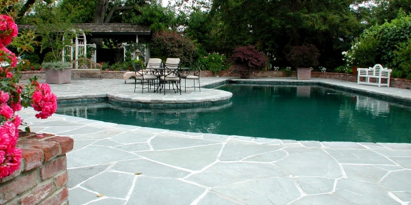 Stone Pool Deck and Patio
